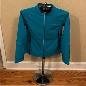 ASICS Teal/Silver Athletic Jacket, Sz. L, *NWOT*